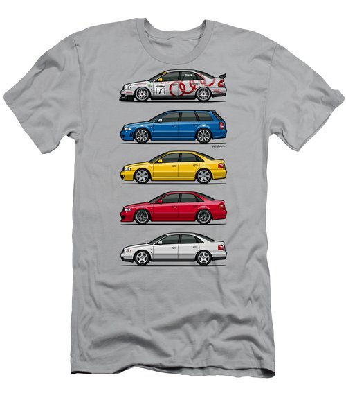 Stack Of Audi A4 B5 Type 8d Men's T-Shirt (Slim Fit) by Monkey Crisis On Mars