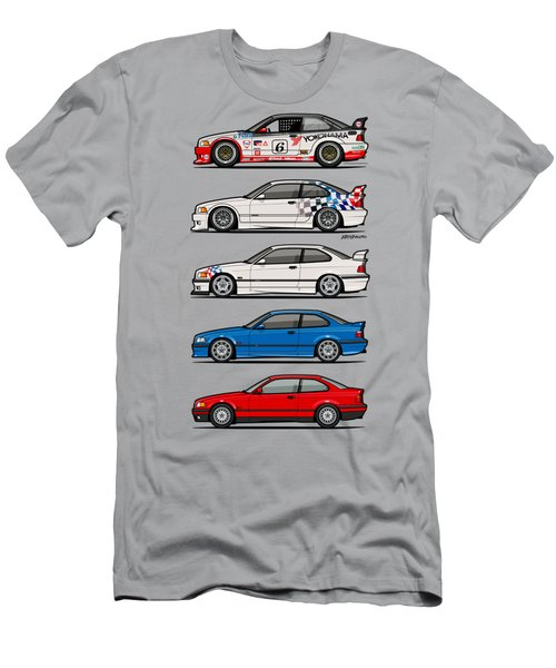 Stack Of Bmw 3 Series E36 Coupes Men's T-Shirt (Athletic Fit)