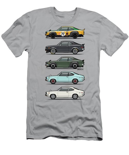 Stack Of Mazda Savanna Gt Rx-3 Coupes Men's T-Shirt (Athletic Fit)