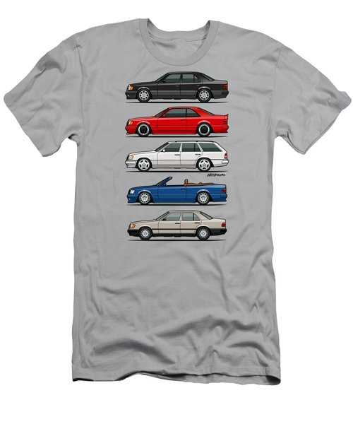 Stack Of Mercedes Benz W124 E-class Men's T-Shirt (Athletic Fit)