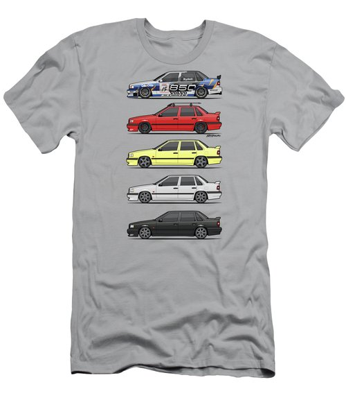 Stack Of Volvo 850r 854r T5 Turbo Saloon Sedans Men's T-Shirt (Athletic Fit)