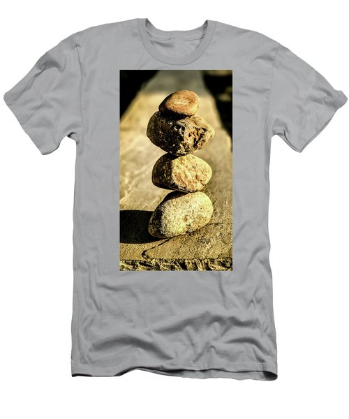 Men's T-Shirt (Athletic Fit) featuring the photograph Stacked Rocks by Onyonet  Photo Studios