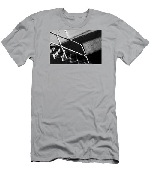 Stair Wall And Shadows Men's T-Shirt (Slim Fit) by Catherine Lau