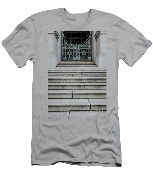 Staircase With Metal Gate Providence Rhode Island Men's T-Shirt (Athletic Fit)
