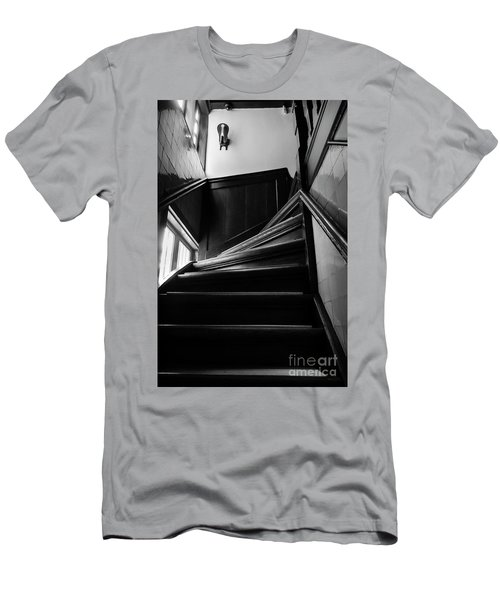 Men's T-Shirt (Slim Fit) featuring the photograph Stairway In Amsterdam Bw by RicardMN Photography