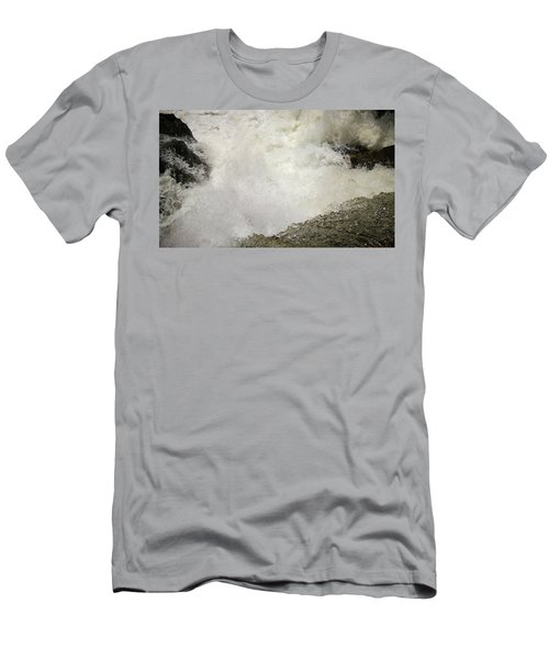 Standing On A Waterfall Men's T-Shirt (Athletic Fit)