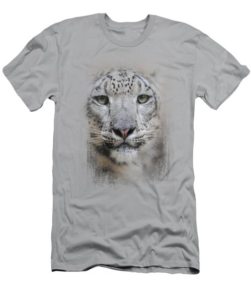 Stare Of The Snow Leopard Men's T-Shirt (Slim Fit) by Jai Johnson