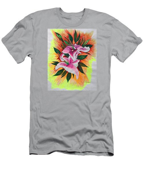 Men's T-Shirt (Slim Fit) featuring the drawing Stargazers by J R Seymour