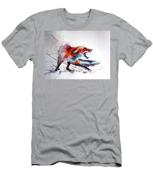 Startled Red Fox Men's T-Shirt (Athletic Fit)