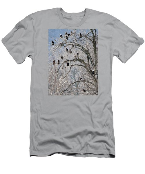 Starved Rock Eagles Men's T-Shirt (Slim Fit) by Paula Guttilla