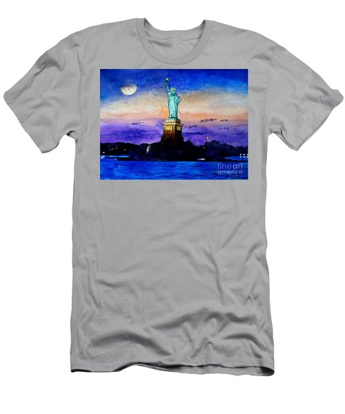 Statue Of Liberty New York Men's T-Shirt (Athletic Fit)