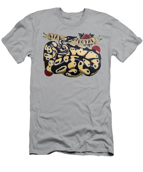 Stay Royal Ball Python Men's T-Shirt (Slim Fit) by Donovan Winterberg