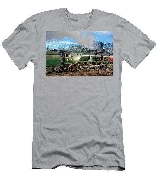 Steam Locomotive Elegance Men's T-Shirt (Athletic Fit)
