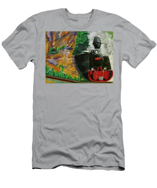 Steam Train Men's T-Shirt (Slim Fit) by Manuela Constantin