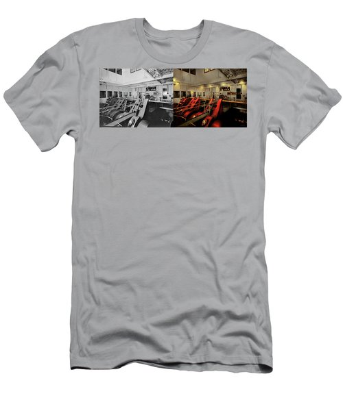 Men's T-Shirt (Athletic Fit) featuring the photograph Steampunk - Man The Controls 1908 - Side By Side by Mike Savad