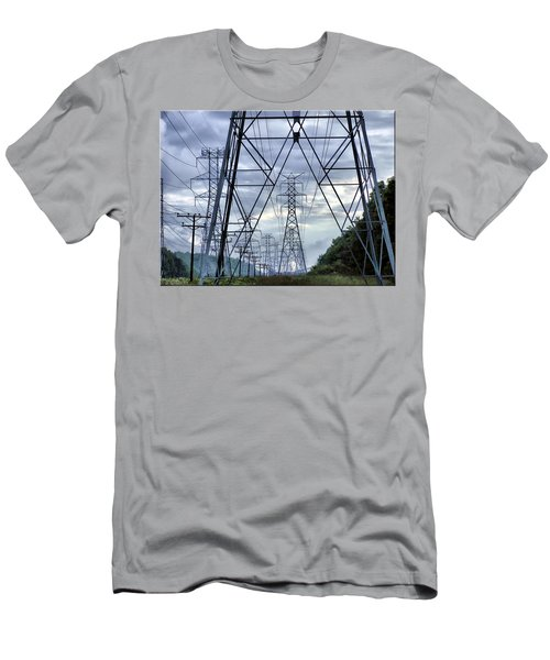 Men's T-Shirt (Slim Fit) featuring the photograph Steel Soldiers Marching To The Sea by Brian Wallace