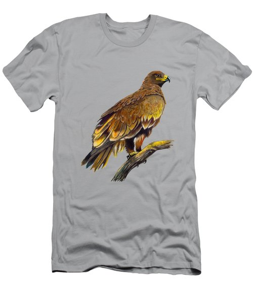 Steppe Eagle Men's T-Shirt (Slim Fit) by Anthony Mwangi
