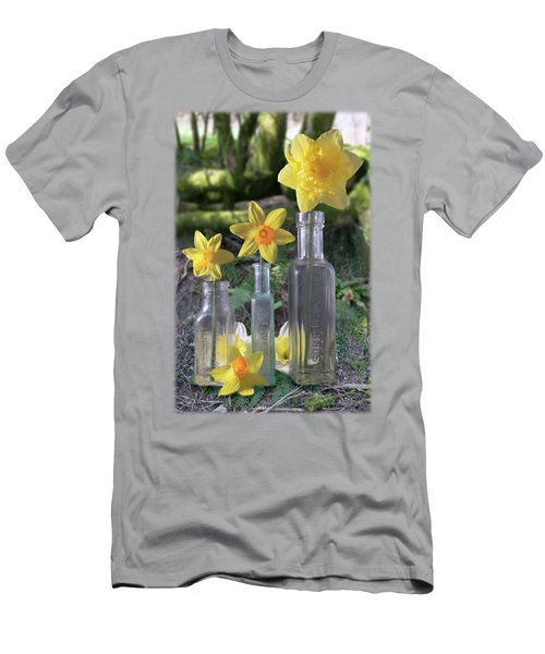 Still Life In The Woods Men's T-Shirt (Slim Fit) by Jon Delorme