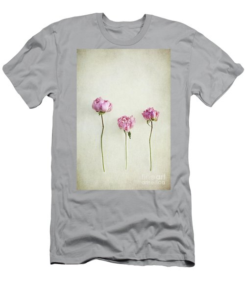 Still Life Of Dried Peonies With Texture Overlay Men's T-Shirt (Athletic Fit)