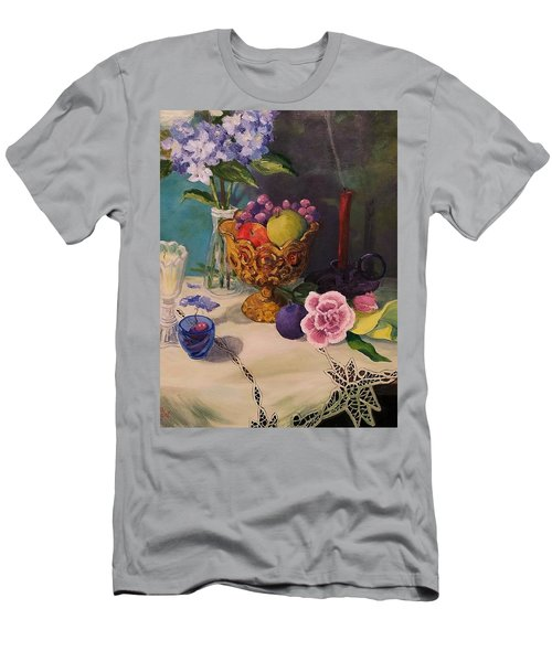 Still Life On Lace Men's T-Shirt (Athletic Fit)