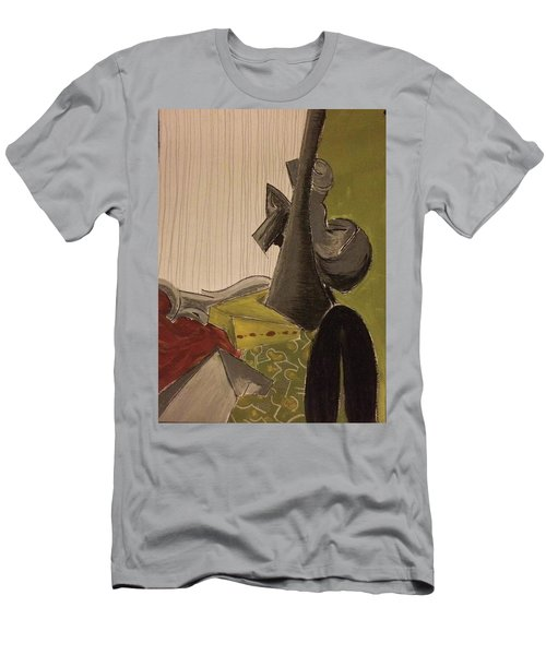 Still Life With A Black Horse- Cubism Men's T-Shirt (Slim Fit)