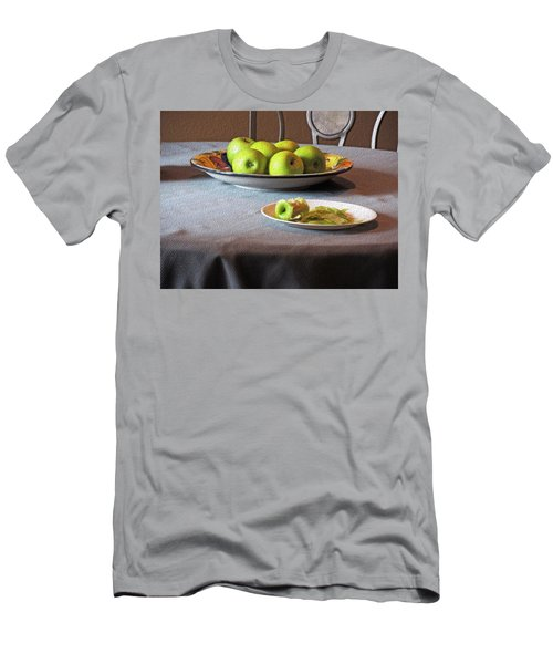 Still Life With Apples And Chair Men's T-Shirt (Slim Fit) by Lynda Lehmann