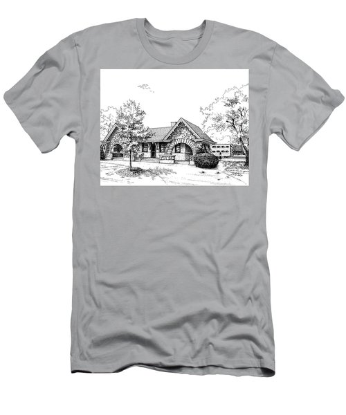 Stone Ave. Train Station Men's T-Shirt (Athletic Fit)
