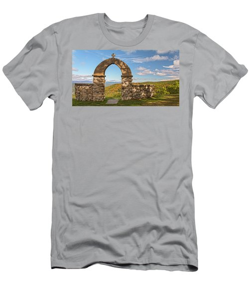 Stone Church In Autumn Men's T-Shirt (Athletic Fit)