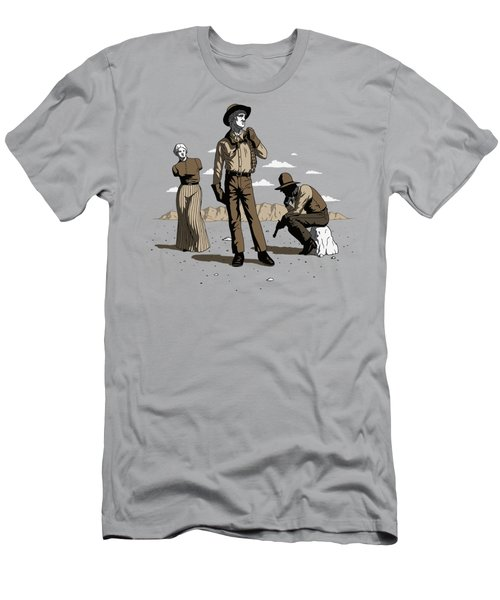 Men's T-Shirt (Slim Fit) featuring the digital art Stone-cold Western by Ben Hartnett