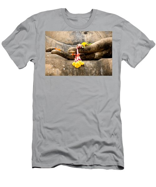 Stone Hand Of Buddha Men's T-Shirt (Athletic Fit)