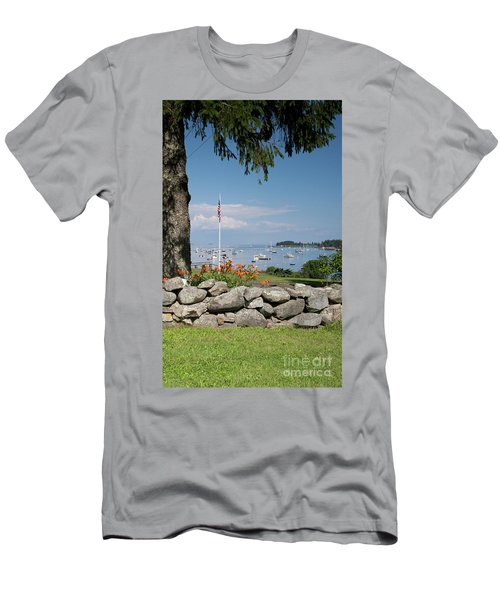 Stone Wall And Tenants Harbor, Maine  #8455 Men's T-Shirt (Athletic Fit)