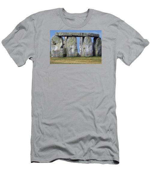 Stonehenge Men's T-Shirt (Slim Fit) by Travel Pics