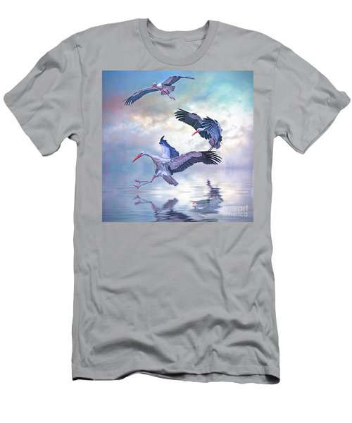 Storks Landing Men's T-Shirt (Slim Fit) by Brian Tarr