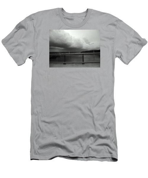 Storm Clouds On The Hudson Men's T-Shirt (Slim Fit) by Bruce Carpenter