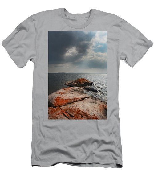 Storm Clouds Over Wall Island Men's T-Shirt (Athletic Fit)