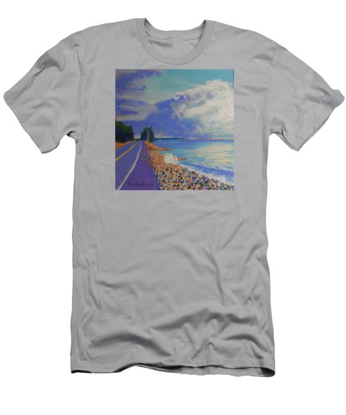Storm Over Queensland Beach Men's T-Shirt (Slim Fit) by Rae  Smith
