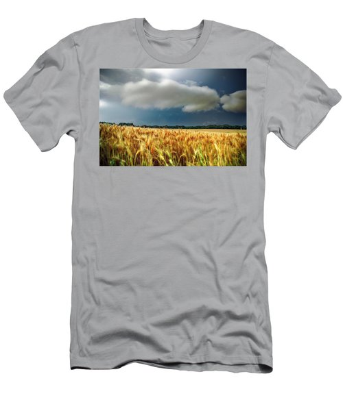 Storm Over Ripening Wheat Men's T-Shirt (Athletic Fit)