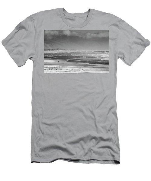 Stormy Oceanside Oregon Men's T-Shirt (Slim Fit) by Amyn Nasser