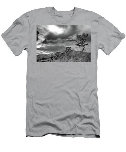 Stormy Sky At The Ranch Men's T-Shirt (Athletic Fit)