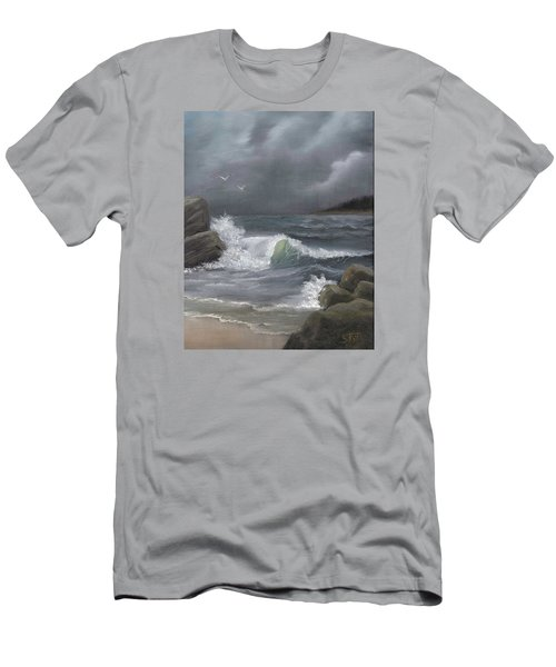 Stormy Waters Men's T-Shirt (Slim Fit) by Sheri Keith
