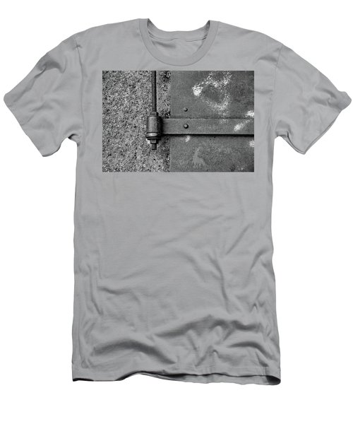 Men's T-Shirt (Slim Fit) featuring the photograph Straight Metal by Karol Livote