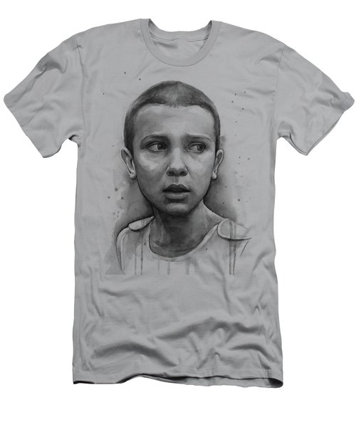 Stranger Things Eleven Upside Down Art Portrait Men's T-Shirt (Athletic Fit)