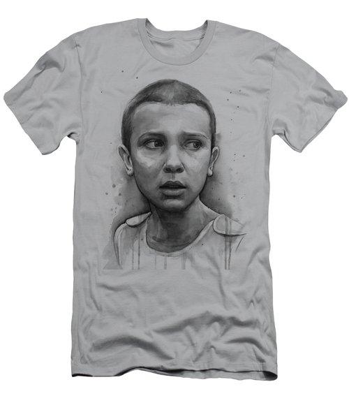Stranger Things Eleven Upside Down Art Portrait Men's T-Shirt (Athletic Fit)