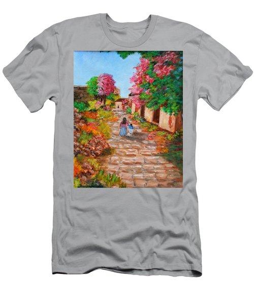 Street In Monemvasia Men's T-Shirt (Athletic Fit)
