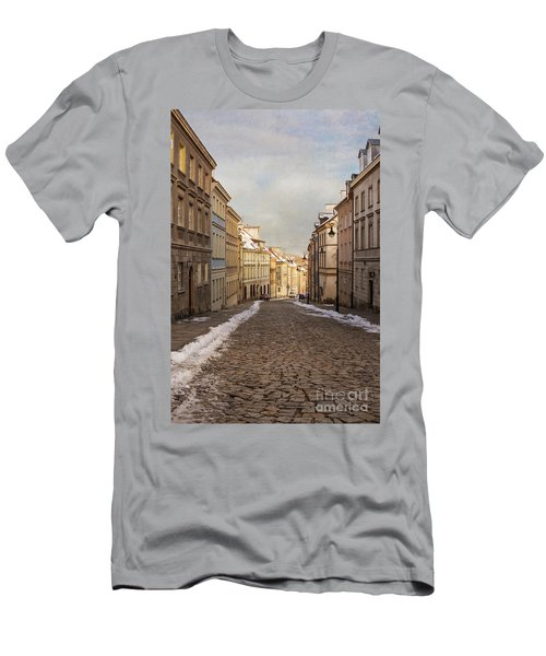 Men's T-Shirt (Slim Fit) featuring the photograph Street In Warsaw, Poland by Juli Scalzi
