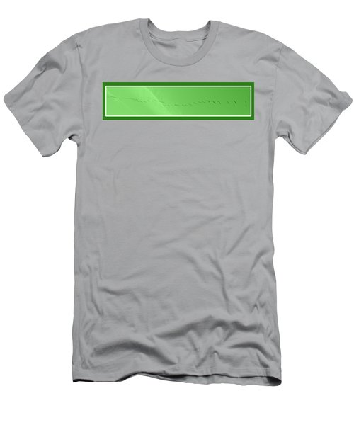 String Of Birds In Green Men's T-Shirt (Athletic Fit)