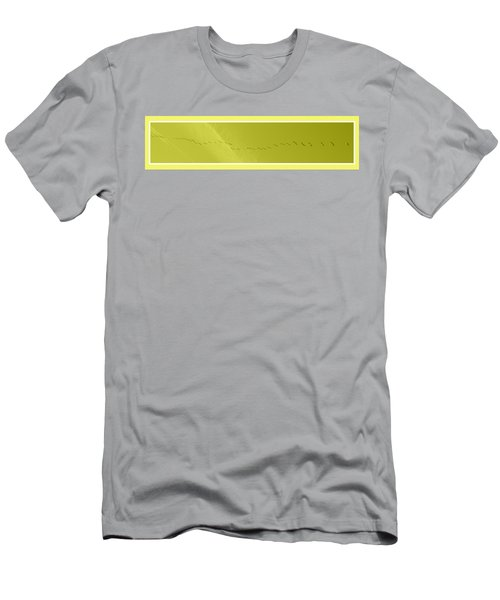 String Of Birds In Yellow Men's T-Shirt (Athletic Fit)