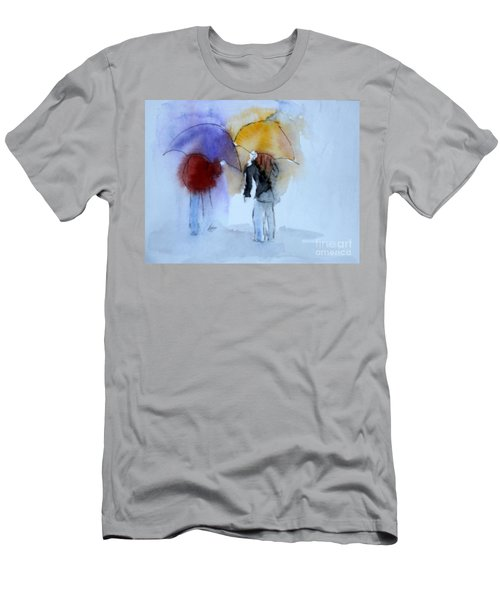 Strolling In The Rain Men's T-Shirt (Athletic Fit)