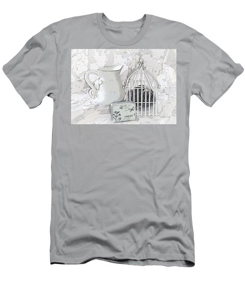 Stuck And All Alone Men's T-Shirt (Slim Fit) by Sherry Hallemeier