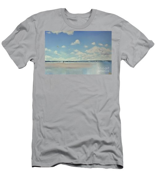 Men's T-Shirt (Slim Fit) featuring the painting Study Of Blue Nr 1 by Maja Sokolowska